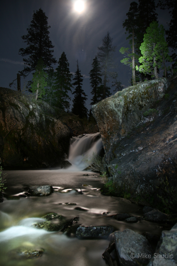 night-waterfall